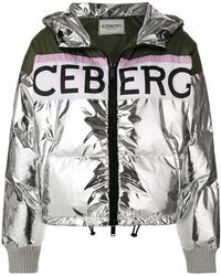 Iceberg - Metallic Puffer Jacket - Lyst