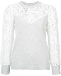 Rebecca Taylor - Lace-embroidered Jumper - Lyst