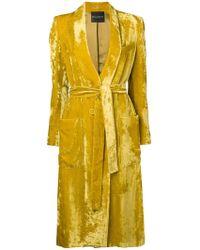 Erika Cavallini Semi Couture - Velvet Single-breasted Coat - Lyst