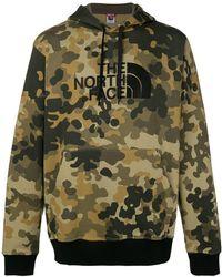 The North Face - Drew Peak Camo Hoodie Green - Lyst