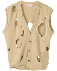 CHARLES JEFFREY LOVERBOY - Distressed Buttoned Vest - Lyst