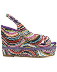 Missoni | Wedged Striped Sandals | Lyst