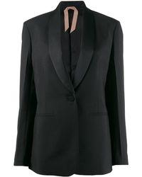 N°21 ショールカラー ジャケット - ブラック