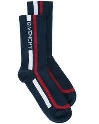 Givenchy - Logo Stripe Socks - Lyst