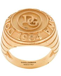 Dolce & Gabbana - Logo Engraved Ring - Lyst