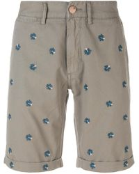Sun 68 - Floral Embroidered Bermuda Shorts - Lyst