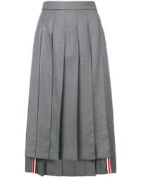Thom Browne - Pleated Skirt - Lyst