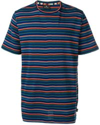 PS by Paul Smith - Striped Knit T-shirt - Lyst