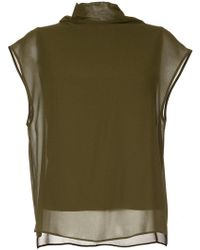 Jean Paul Knott - High Neck Layered Top - Lyst