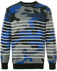 In Lyst Wool Blue Men Cashmere amp; Camouflage For Hydrogen Cardigan xSqASwOYC
