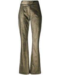 Zeus+Dione - Metallic Bootcut Trousers - Lyst