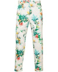 Loveless - Floral Print Chinos - Lyst