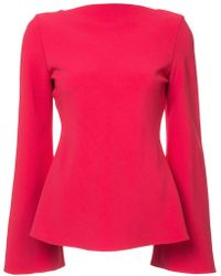Brandon Maxwell - Pleated Back Blouse - Lyst