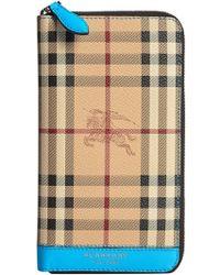 Burberry - Haymarket Check Ziparound Wallet - Lyst