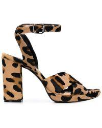 P.A.R.O.S.H. - Leopard Print Sandals - Lyst