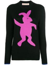 Marni - Logo Knit Jumper - Lyst