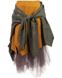 Enfold - Military Tulle Skirt - Lyst