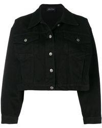 Andrea Ya'aqov - Cropped Denim Jacket - Lyst