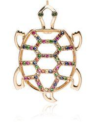 Yvonne Léon - Gold Tortoise Diamond Earring - Lyst