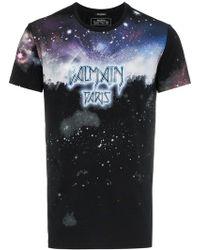da5c52da Balmain - Galaxy Logo Print T-shirt - Lyst