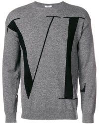 Valentino - Logo Patterned Jumper - Lyst