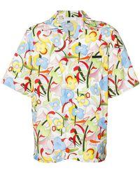 Prada - Hemd mit Blumen-Print - Lyst