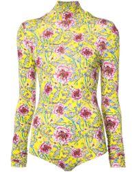 Prabal Gurung - Floral Bodysuit - Lyst