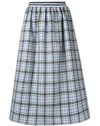 Ultrachic - Tartan Flared Midi Skirt - Lyst