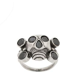 KTZ - Rhinestone Embellished Skull Ring - Lyst