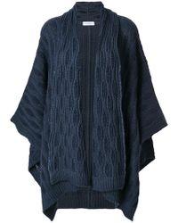 Cruciani - Cashmere Embroidered Cape - Lyst