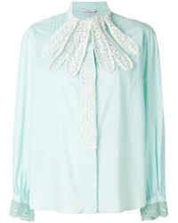 Tsumori Chisato - Lace-embroidered Fitted Shirt - Lyst