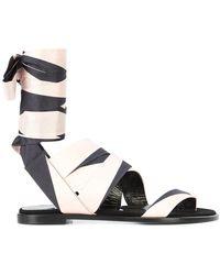 Pierre Hardy - Ankle-wrap Sandals - Lyst