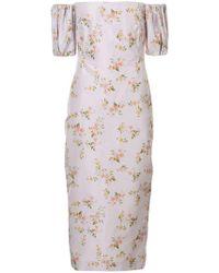 Brock Collection - Off-shoulder Printed Dress - Lyst