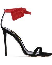 Off-White c/o Virgil Abloh - Ankle Tag Sandal Pumps - Lyst