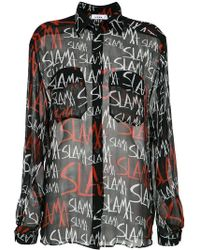 Amir Slama - Logo Print Shirt - Lyst
