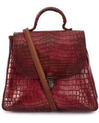 Cherevichkiotvichki - Crocodile Leather Contrast-strap Bag - Lyst