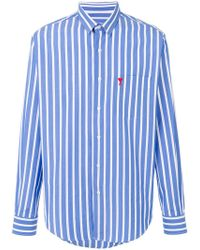 AMI - Striped Shirt - Lyst