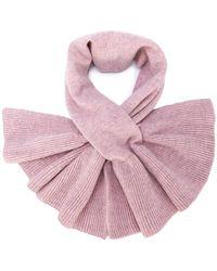 Paule Ka - Frill-trim Knitted Scarf - Lyst