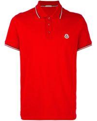 1b067aa8 Moncler - Short Sleeve Polo Shirt - Lyst