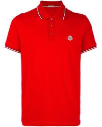 Moncler - Short Sleeve Polo Shirt - Lyst