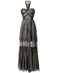 Maria Lucia Hohan - Metallic Halterneck Maxi Dress - Lyst
