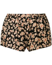 Love Stories - Floral Print Shorts - Lyst