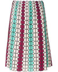 M Missoni - Geometric Print Skirt - Lyst