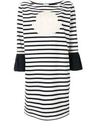 562b0651cee Moncler - Robe à manches contrastantes - Lyst