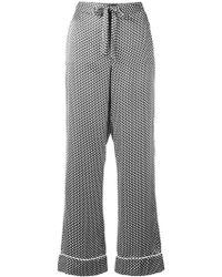 Equipment - X Kate Moss 'avery' Star Print Silk Pyjama Trousers - Lyst