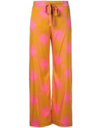 4b0b74123923 Baum und Pferdgarten Cropped Flare Trousers in Yellow - Lyst