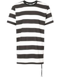 Mastermind Japan - Striped T-shirt With Skull Print Back - Lyst