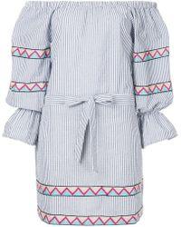 Suboo - Maya Striped Off The Shoulder Mini Dress - Lyst