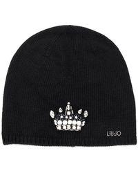 Liu Jo - Embellished Crown Beanie - Lyst
