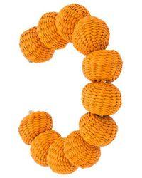 Carolina Herrera - Raffia Beads Bracelet - Lyst
